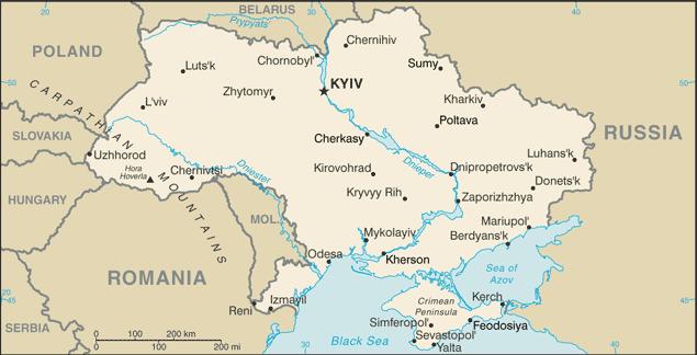 Harta Ucraina Romania
