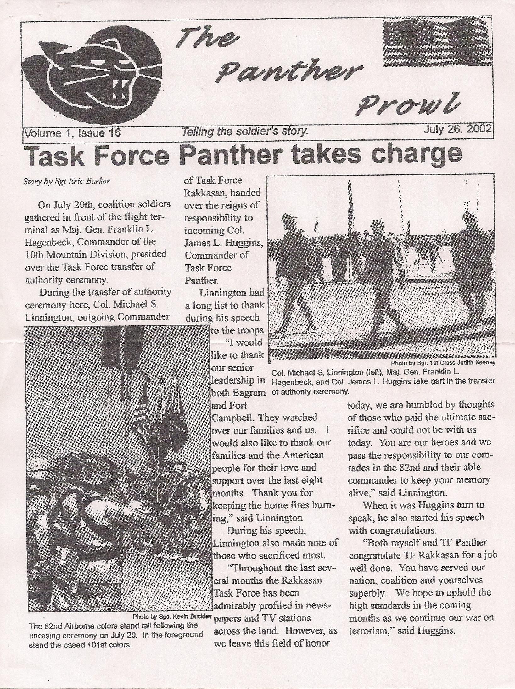 Panther Prowl pagina 1