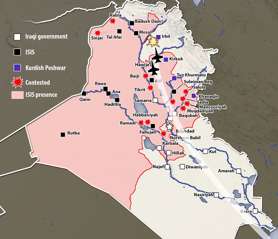 ISIS lupte in IRAK
