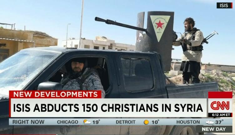 150 de crestini capturati de ISIS