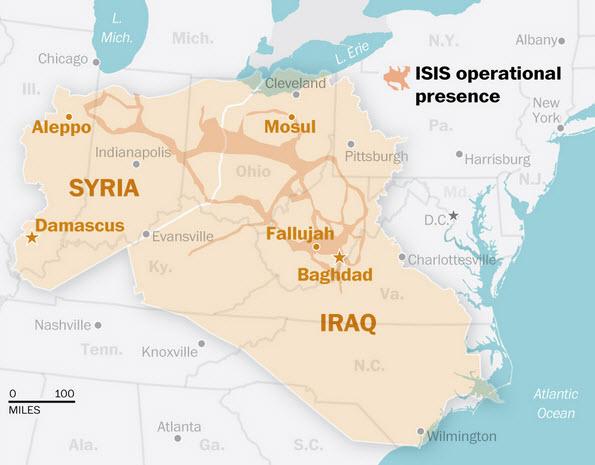 Harta ISIS