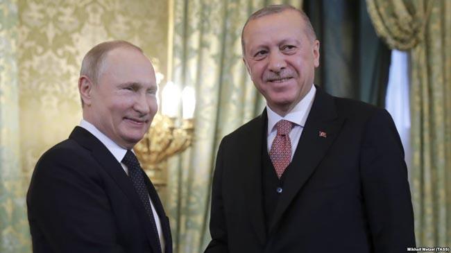 Întânire Putin şi Erdogan Moscova 8 aprilie 2019